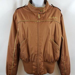 Baby Phat Copper Puffer Bomber Jacket